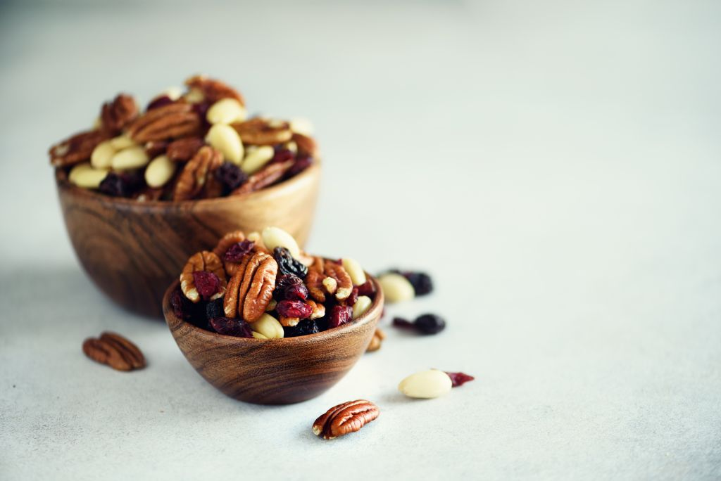 nuts and berries for a healthy diet