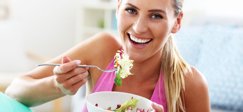 healthy diet eating fresh food