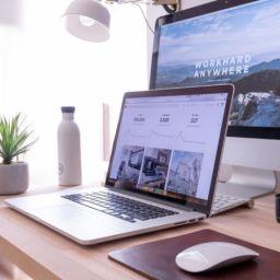 work desk set up